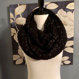 Beautiful Black and Silver Infinity Scarf 💋